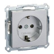 Schneider MTN2301-0460 Merten 2P+F csatlakozóaljzat, rugós bekötés, 16A, System-M, alumínium Földelt dugalj
