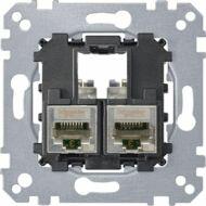 Schneider MTN4576-0022 MERTEN 2xRJ45 Cat6 STP aljzat