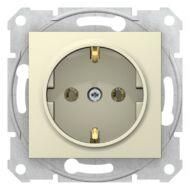 Schneider SDN3000547 Sedna 2P+F csatlakozóaljzat, csavaros bekötés, 16A, bézs dugalj