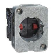 Schneider XACS414 rugóvisszat. érintkezőblokk - 1 NC + 1 NO - alapra szerelt