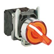 Schneider XB4BK135B5 narancssárga világító választókapcsoló Ø22 3 allású 1NO+1NC 24V