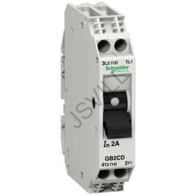 Kép illusztráció: Schneider GB2CD12 megszakító TeSys vezérlő áramkörökhöz - GB2-CD - 6 A - 1-pólus+N - 1d