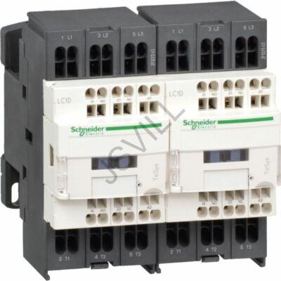 Kép illusztráció: Schneider LC2D183E7 AC irányváltó, 7,5kW/18A (400V, AC3), rugós csatlakozás, 1Z+1NY