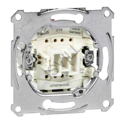 Kép illusztráció: Schneider MTN3116-0000 Merten Váltókapcsoló, rugós bekötés, 10AX (106) Univerzális betétek