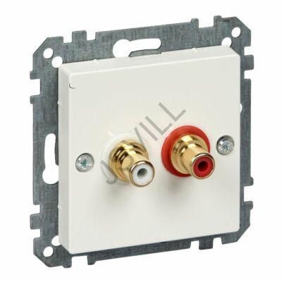 Kép illusztráció: Schneider MTN4350-0319 MERTEN Audio csatlakozóaljzat (RCA), System-M, polárfehér