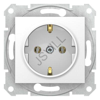 Kép illusztráció: Schneider SDN3000521 Sedna 2P+F csatlakozóaljzat, csavaros bekötés, 16A, fehér dugalj