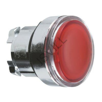 Kép illusztráció: Schneider ZB4BA48 piros sülly. világító nyomógomb fej Ø22 visszatérő - LED-del